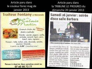 article de presse janvier 2013.